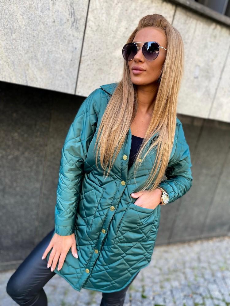 Płaszcz BELLUCI by RICCA, butelkowa zieleń