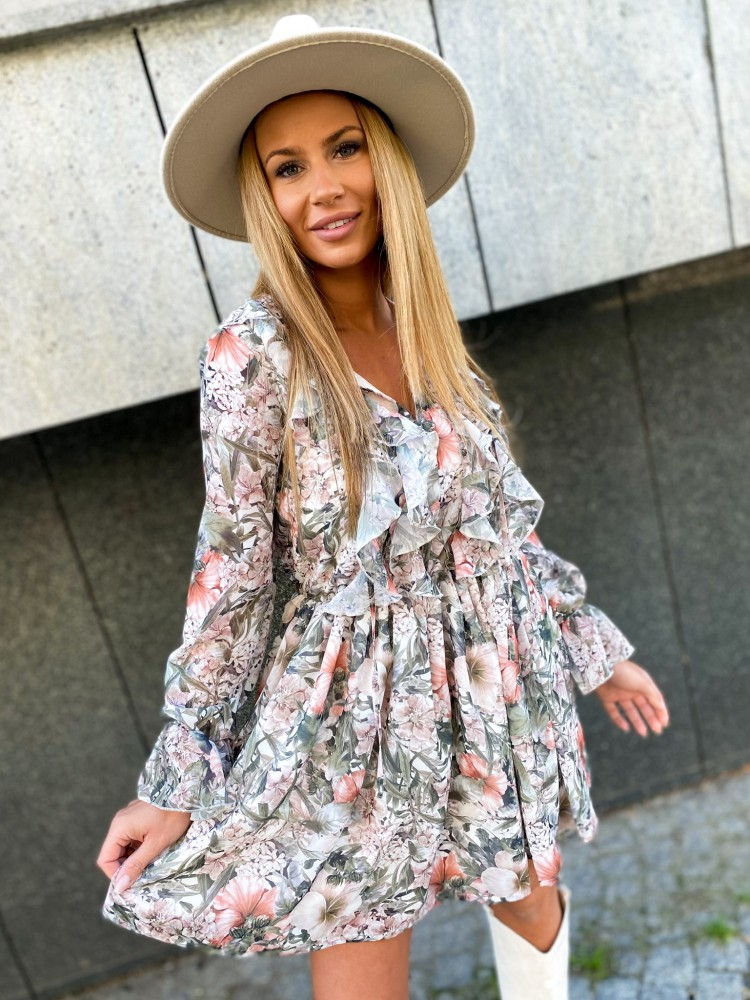 Sukienka BELLA by Ricca, khaki/peach 02